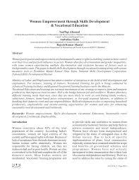 women empowerment through skills development vocational women empowerment through skills development vocational education pdf available