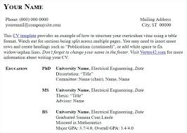 Example Of Cv And Resume Resume Template Cv Vs Resume Meaning