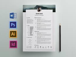 Free Resume Templates In Illustrator Ai Format