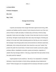 essay the causes of bad hygiene fall under depression but does  11 pages essay egl 1010 teenage drunk driving