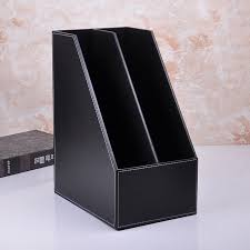 china a4 black pu leather file holder box with two dividers china pu leather box pu leather file holder