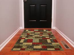 main rugs with rubber backing on hardwood floors ottomanson ottohome collection contemporary boxes design area rug non skid multicolored best pad for