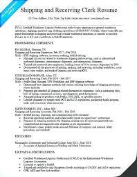 Manifest Clerk Sample Resume Best Shipping And Receiving Resume Socialumco
