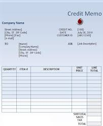 Ms Word Memo Templates Free Credit Memo Request Form Template