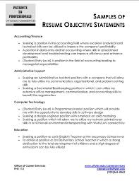 Ideas Of General Business Resume Objective Examples Simple Entry
