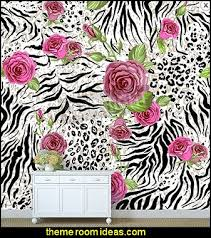 wild animal print wallpaper. Unique Print Animal Skin And Roses WILD CATS THEME BEDROOM DECORATING IDEAS For Wild Print Wallpaper M