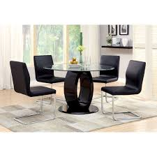 furniture of america damore contemporary high gloss round dining table hayneedle