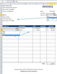 Making Invoice In Excel Apcc2017