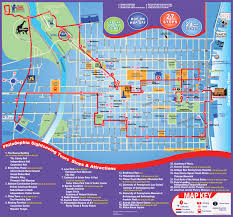philadelphia city tour map  map  philadelphia sightseeing tours