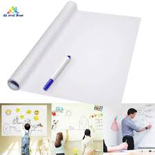 Abh Pvc Back Sticky White Board Roll Up Reusable Message Board Remind Memo Pad