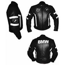 bmw black leather biker jacket with white stripes black motorcycle leather jacket