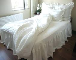 white ruffle duvet cover twin waterfall ruffle duvet cover twin xl