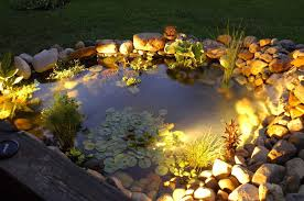 koi pond lighting ideas. This Beautiful Pond Is Brought To Life By The Warmth Of A Few Subtle Lights That Koi Lighting Ideas