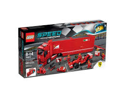 Includes 6 minifigures with assorted accessories: F14 T Scuderia Ferrari Truck 75913 Speed Champions Buy Online At The Official Lego Shop Us