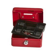 Esselte 374035 Cash Box Cashmate 124 X 97 X 60mm Red