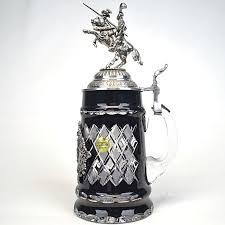 Authentic German Black Knight Crystal Stein 1/2 liter - Ernst Licht