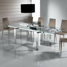 expandable glass dining room tables round extendable table set 45 sets curva black best photos