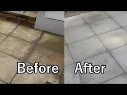 how to clean flagstone paths easily
