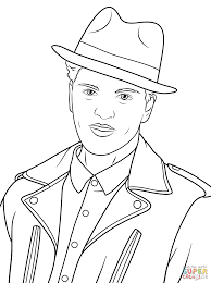 Small Picture Bruno Mars coloring page Free Printable Coloring Pages