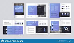 Template Layout Design With Cover Page For Company Profile