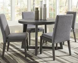 Dark dining room furniture Traditional Style Besteneer Dark Gray Round Dining Room Table Railway Freight Besteneer Dark Gray Round Dining Room Table D56850 Tables