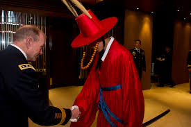 file gen martin e dempsey shakes hands a south korean honor martin e dempsey shakes hands a south korean honor guard