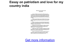 essay on patriotism and love for my country google docs