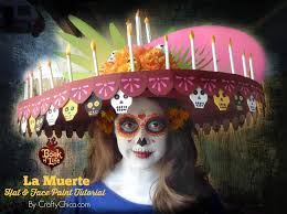 la muerte hat face paint tutorial from the bookoflife by craftychica