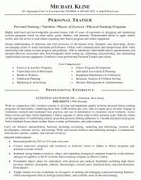 personal trainer resume examples – free template download