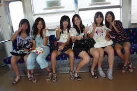 Young teens flashing asian