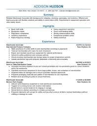 Sample Resume For Warehouse Associate Warehouse Associate Resume Example Picture Collection Website Free 2