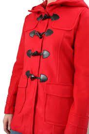 the closet hooded toggle peacoat front full image