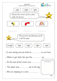 Printable worksheets for teaching students to read and write basic words that begin with the letters br, cr, dr, fr, gr, pr, and tr. Igh Words English Worksheet For Key Stage 1 Oa Words Phonics Practice Phonics