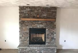 fireplace veneer stack stone stacked stone veneer over brick fireplace