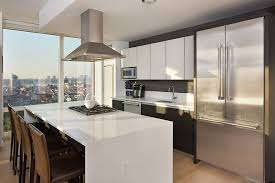 Contemporary Kitchen With Flush Light Flush In New York Ny