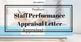 appraisal letter staff performance appraisal letter my legal web