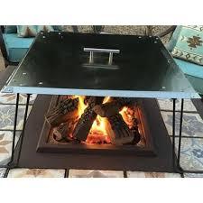 Heat Warden 13 In H X 34 In W X 24 In D Heat Warden Fire Pit Heat Deflector In Stainless Steel Gm Wg27 Gwau The Home Depot