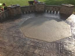 concrete patio coppell tx decorative stamped concrete patio with exposed aggregate inlay wwwford