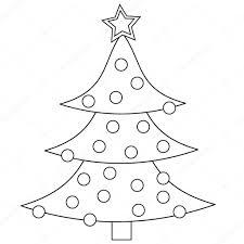 Kerstboom Kleurplaat