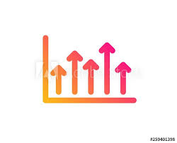 Investment Style Chart Growth Chart Icon Financial Graph Sign Upper Arrows Symbol