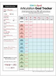 Speech Therapy Progress Chart Setting And Tracking Articulation Goals Slp Ideas Speech