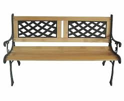 westwood 3 seater outdoor wooden garden bench cast iron legs park seat furniture 4