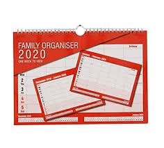 2020 Calendar Family Organiser One Week To View