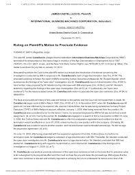 castelluccio v ibm judge s order granting motion to preclude