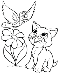 Kittens Coloring Pages Printable Kitten Portraits Excellent Print
