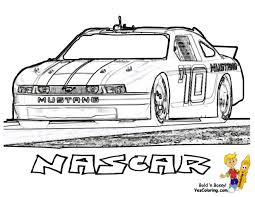Coloring Pages Of Nascar Race Cars