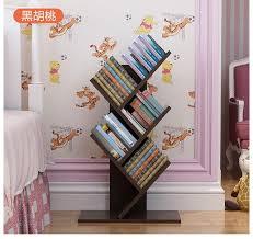 77cm Eco-friendly Five layers Creative tree style shelves Portable  Bookcases Bedroom bookshelf