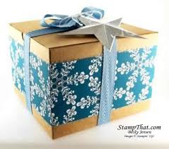Large Present Ribbon Christmas Gift Boxes  Winter Frost Specialty DSP