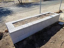 newly constructed cement block raised bed gardens arizona raised bed vegetable gardens for the arizona desert environment