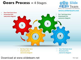 Ppt Smart Art Interconnected Gear Pieces Smart Arts Process 4 Stages Style